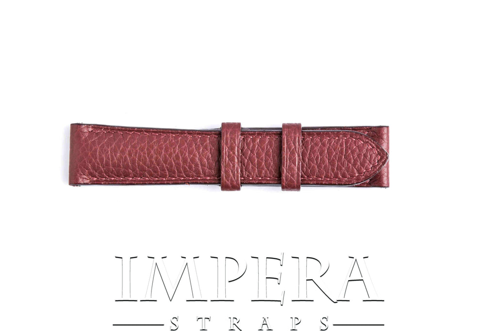 Genuine Hermes Ruby Clemence Leather Watch Strap