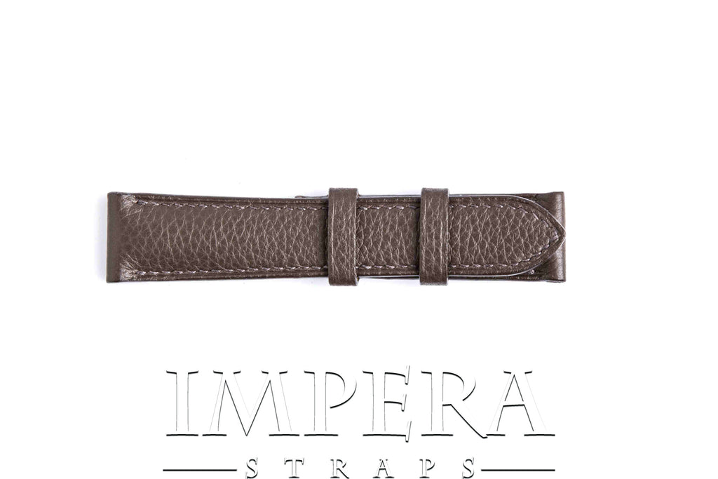 Genuine Hermes Cacao Clemence Leather Watch Strap
