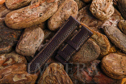 Genuine H Chocolat Clemence Leather Watch Strap