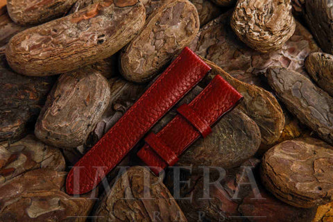 Genuine H Ruby Clemence Leather Watch Strap