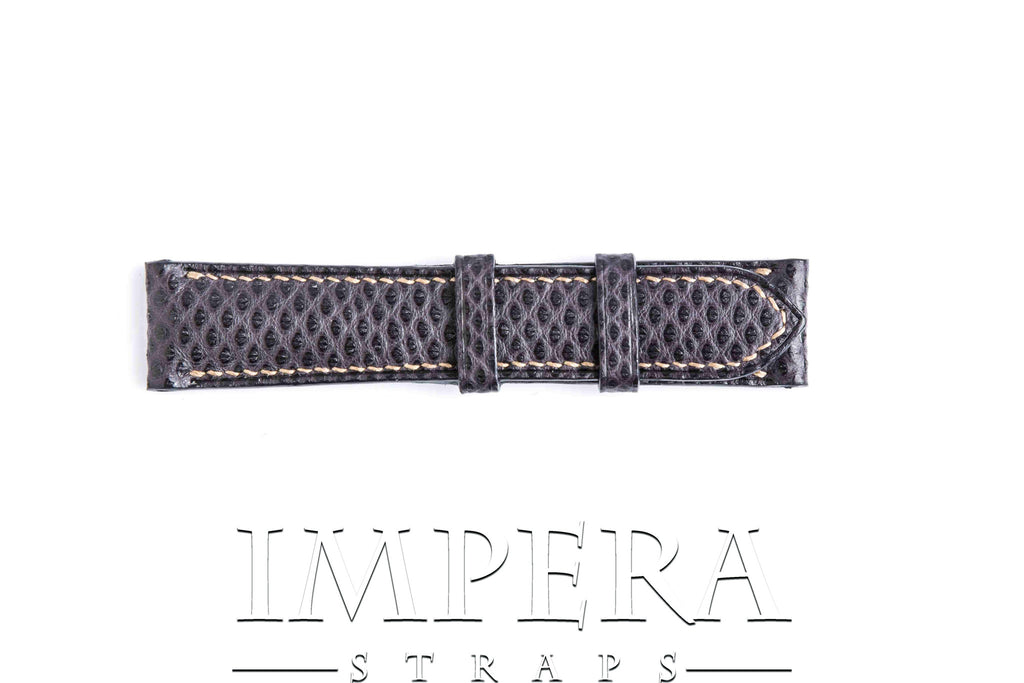 Genuine Amethyst Karung Snake Skin Watch Strap