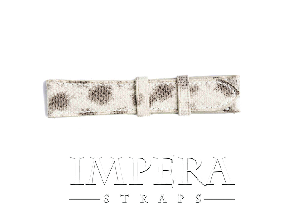 Genuine Light Natural Karung Snake Skin Watch Strap