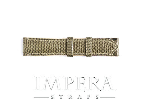Genuine Green Karung Snake Skin Watch Strap