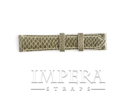 Genuine Green (Godzilla) Karung Snake Skin Watch Strap