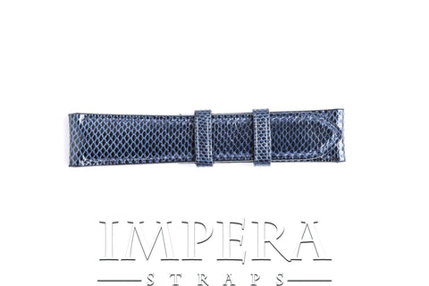 Genuine Navy Blue Karung Snake Skin Watch Strap