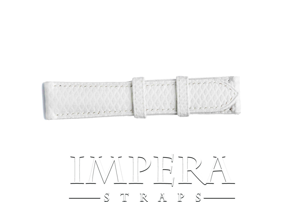 Genuine White Karung Snake Skin Watch Strap