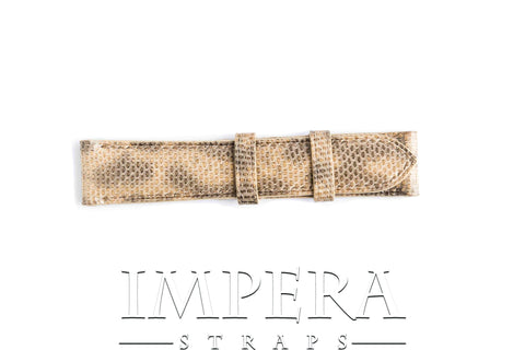 Genuine Light Natural Brown Karung Snake Skin Watch Strap