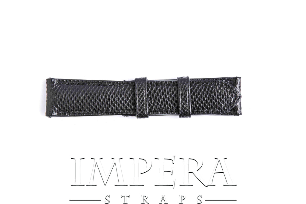 Genuine Black Karung Snake Skin Watch Strap