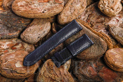 Genuine Charcoal Karung Snake Skin Watch Strap