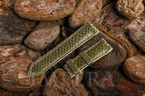 Green Karung Snake Skin Watch Strap