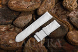White Karung Snake Skin Watch Strap