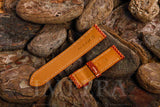 Orange Karung Snake Watch Strap