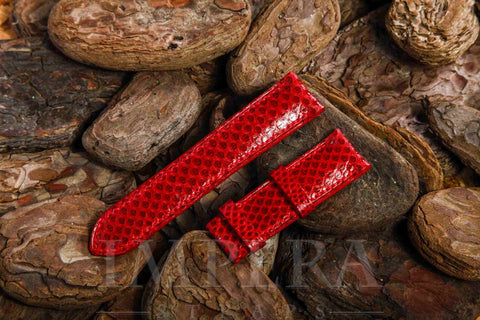 Genuine Cherry Karung Snake Skin Watch Strap (Big Pattern)