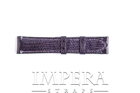Genuine Amethyst Lizard Skin Watch Strap
