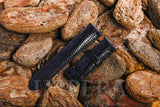 Black Teju Lizard Skin Watch Strap