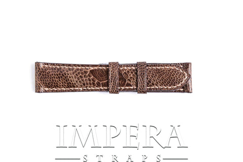 Genuine Brown Ostrich Leg Watch Strap