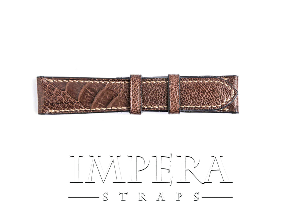 Brown Ostrich Leg Watch Strap