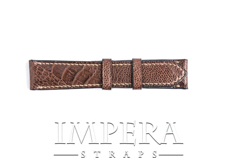 Genuine Brown/Black Effect Ostrich Leg Watch Strap