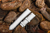 White Ostrich Leg Watch Strap
