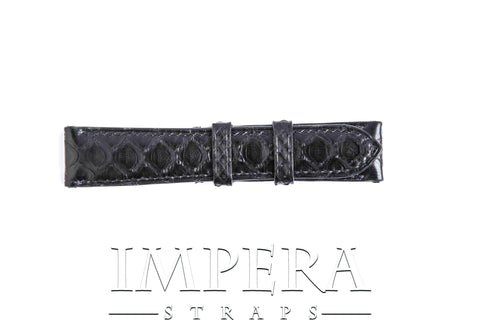 Genuine Black Python Skin Watch Strap