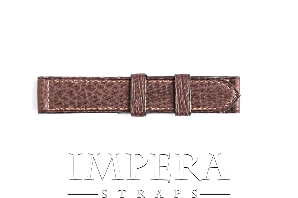 Genuine Brown Shark Leather Watch Strap