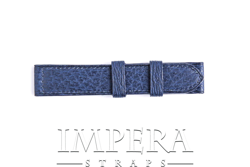 Genuine Blue Shark Leather Watch Strap