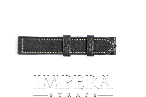 Genuine Black Shark Leather Watch Strap