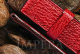 Panerai Red Shark Leather Watch Strap