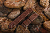 Brown Shark Leather Watch Strap