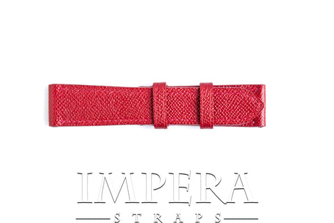 Genuine LV Taiga Red Leather Watch Strap