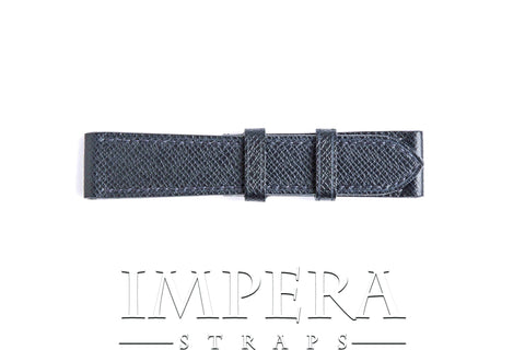 Genuine LV Taiga Navy Blue Leather Watch Strap