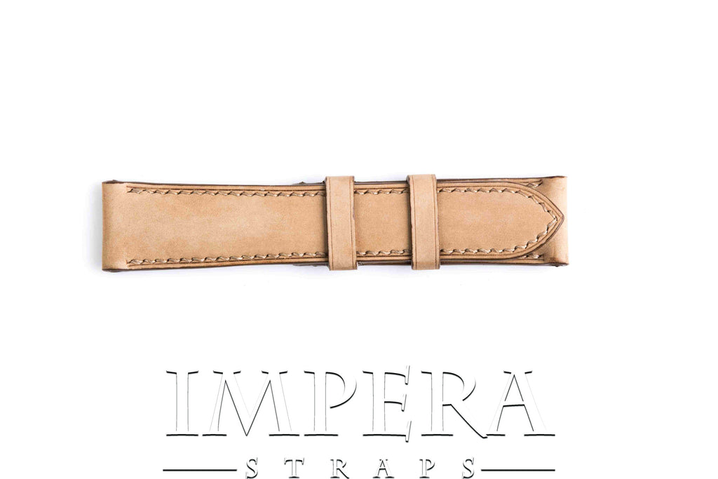 Vegetable Tanned Nubuck Light Brown Genuine Leather Watch Strap