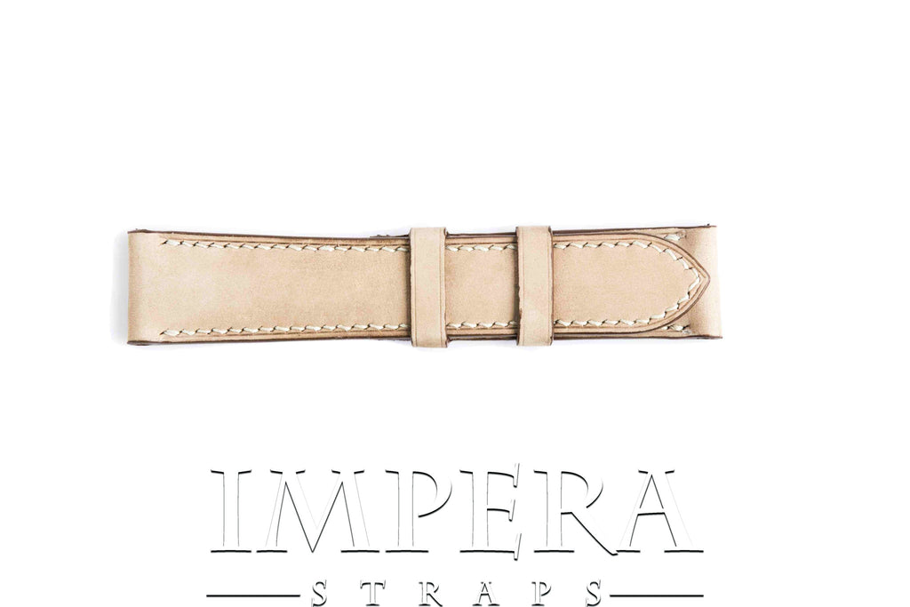 Vegetable Tanned Nubuck Natural Genuine Leather Watch Strap