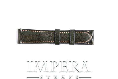 Vegetable Tanned Green Genuine Leather Watch Strap