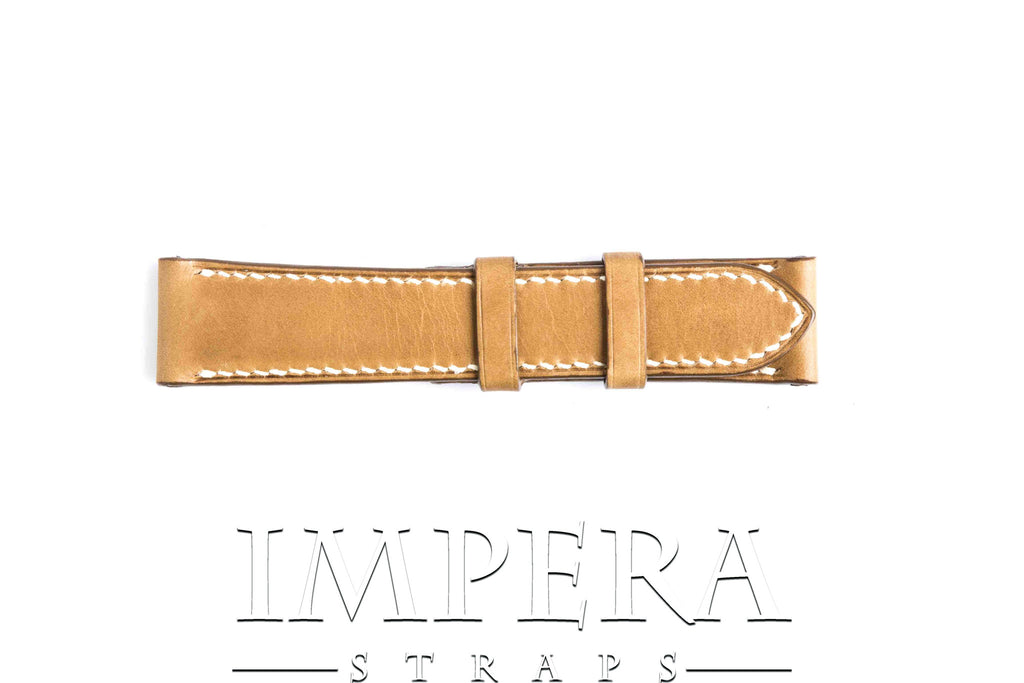 Vegetable Tanned Mustard Genuine Leather Watch Strap