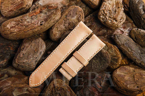 Vegetable Tanned Natural Genuine Leather Watch Strap