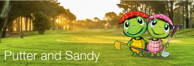 The Littlest Golfer Putter and Sandy Characters