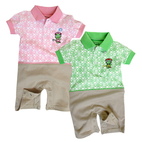 The Littlest Golfer Bermuda Romper