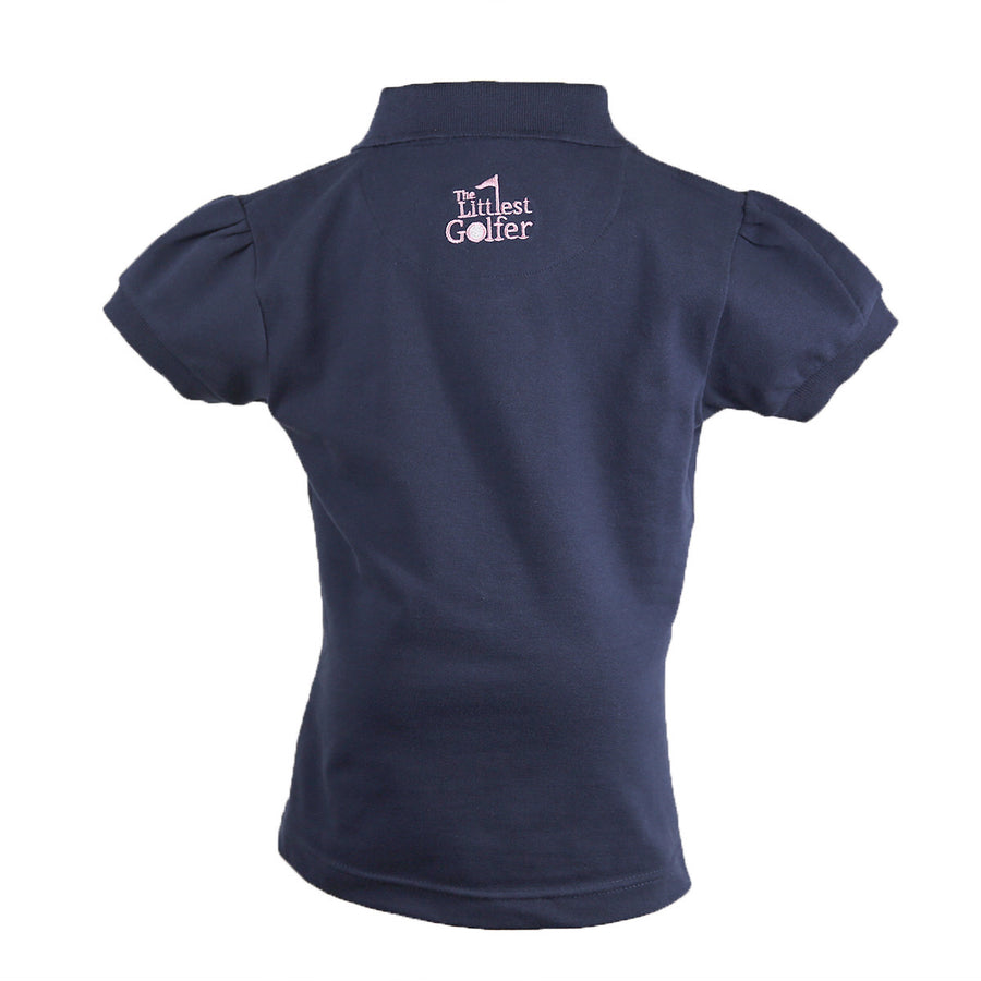 The Cap Sleeve Polo Navy Back