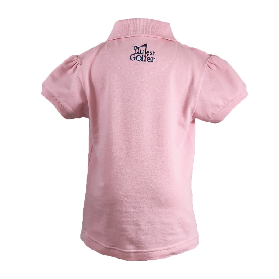 The Cap Sleeve Polo Pink Back
