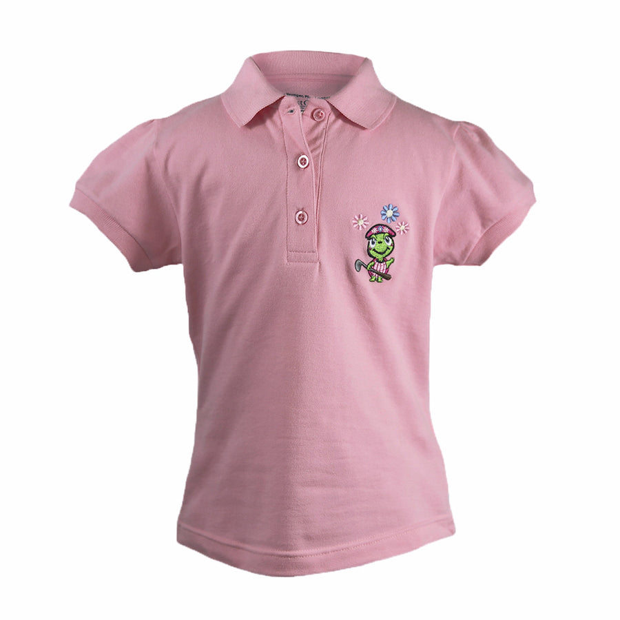 The Cap Sleeve Polo Pink