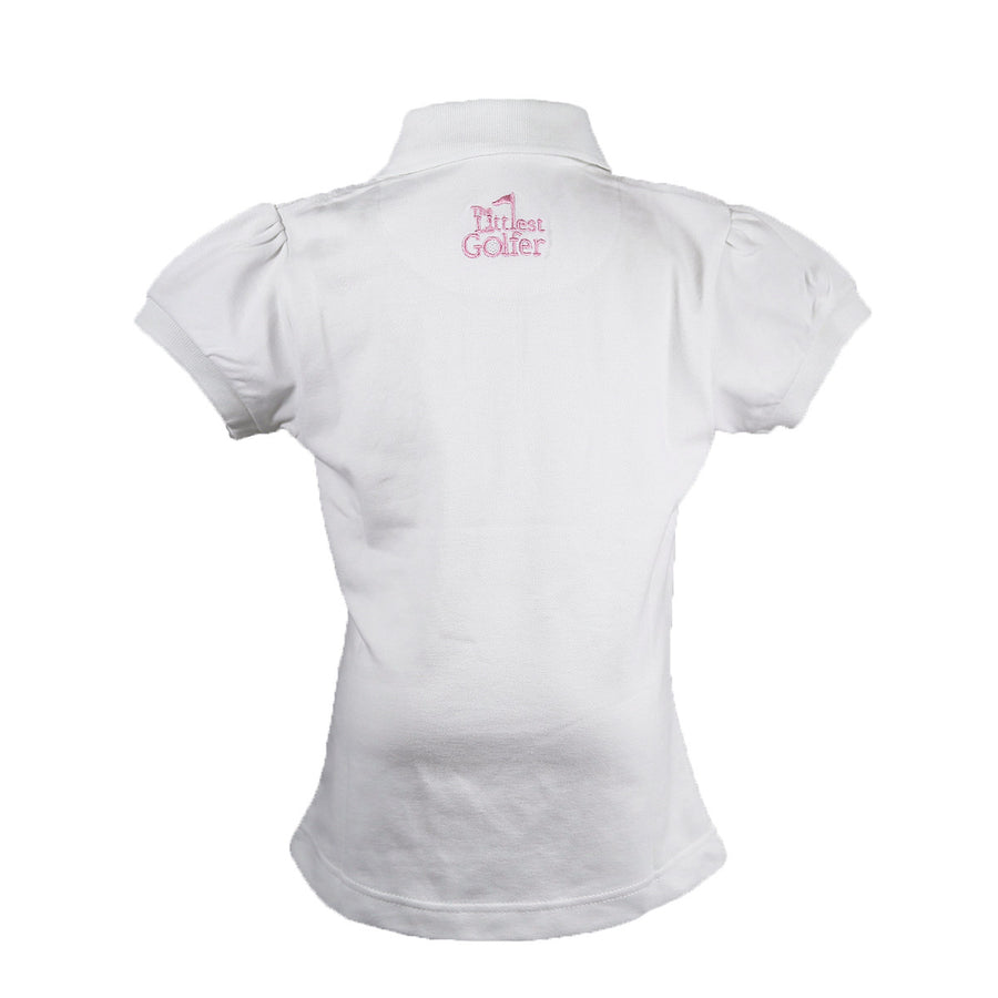 The Cap Sleeve Polo White Back