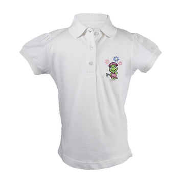 The Cap Sleeve Polo White Front