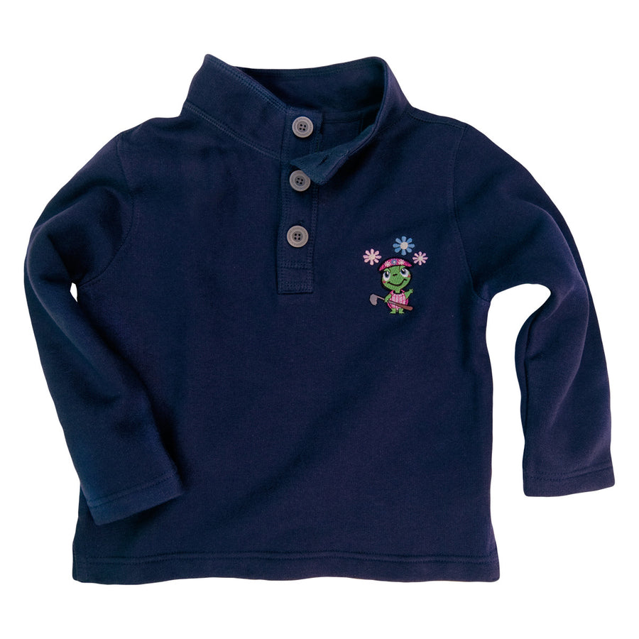 The Fairway Fleece Set Girls Top