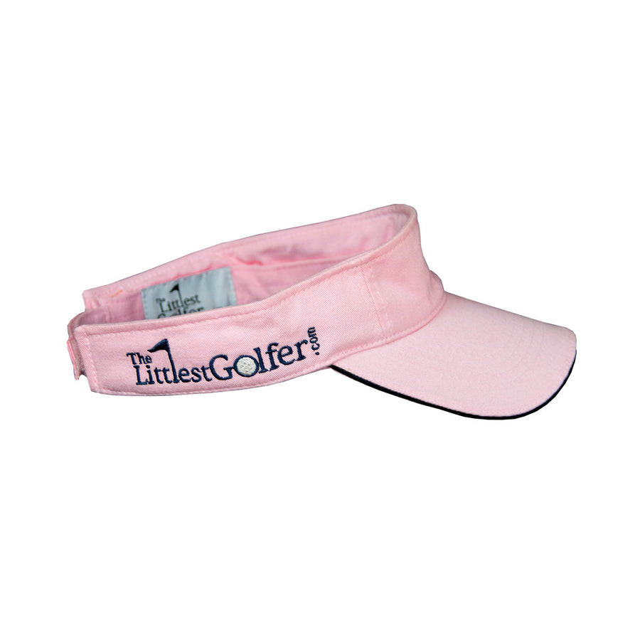 The Littlest Golfer Visor Pink Side