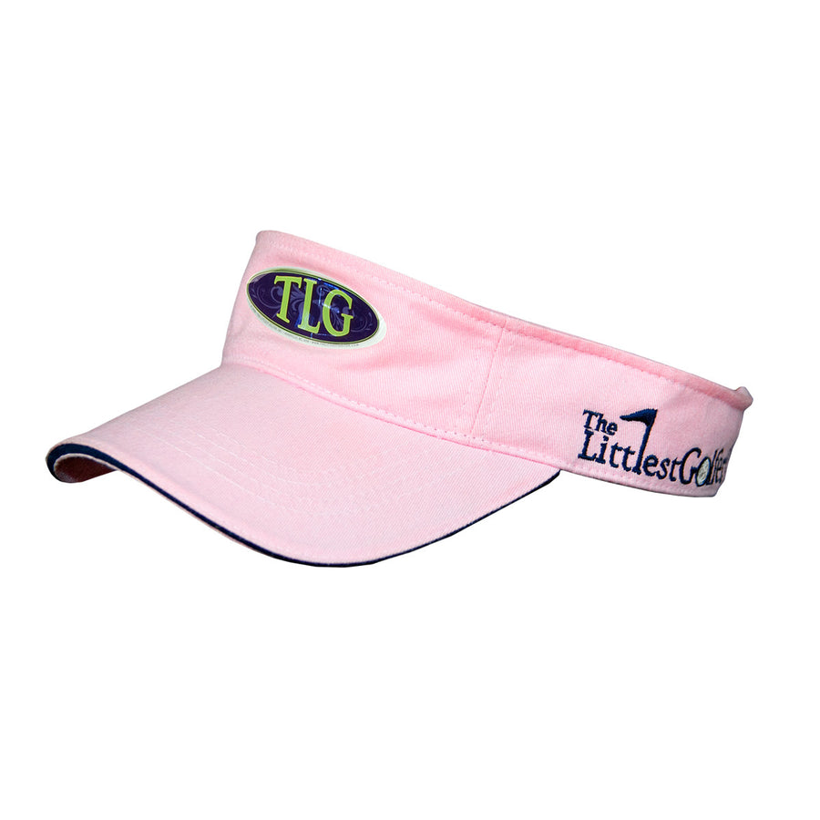 The Littlest Golfer Visor Pink