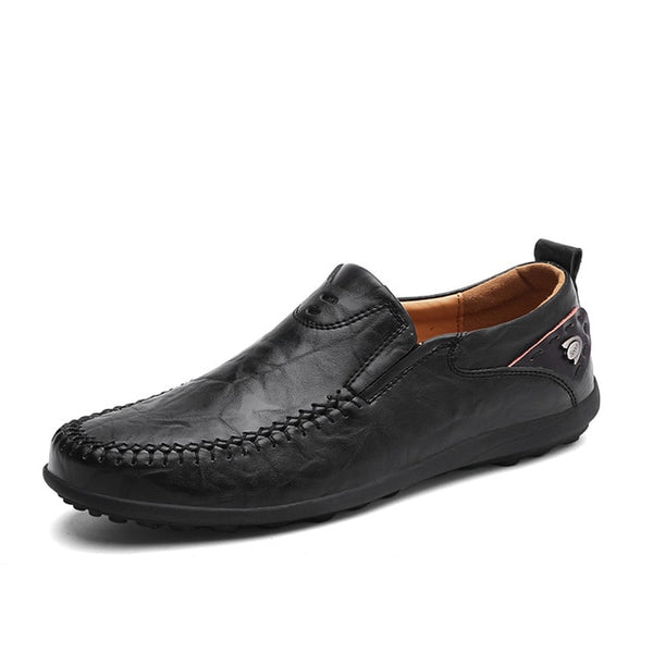 Italian Men Casual Shoes Summer Genuine Leather Men Loafers Moccasins Slip On Men's Flats Breathable Male Driving Shoes BTMOTTZ