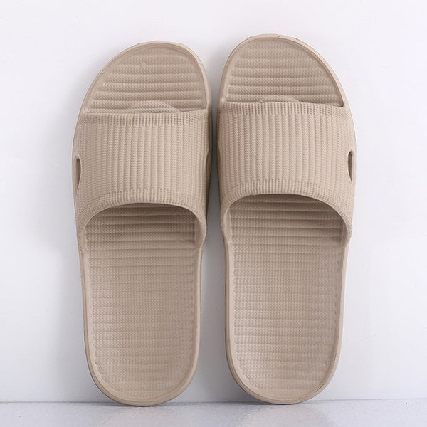 Men Indoor Home Slippers Summer Non-slip Light Hotel Shoes Couple Soft Bottom Sandals Slippers Men's Flat Shoes Flip Flops