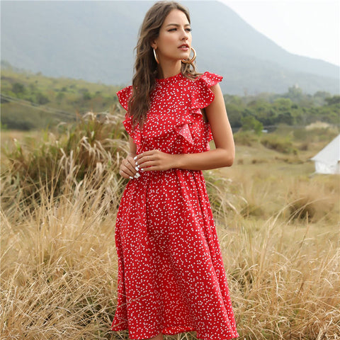 New Summer Dot Print Dress