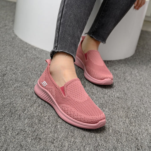 2020 summer women's sneakers slip on soft women's shoes flat casual sock shoes Ladies  Mesh lofaers fashion Vulcanize Shoes